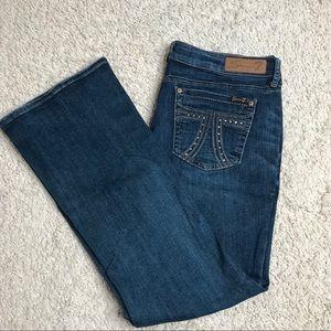 Seven 7 jeans bootcut embellished back pockets